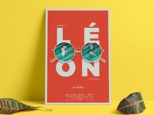 Une affiche avec un effet de 3D.
