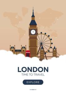 Une affiche pour la ville de Londres.