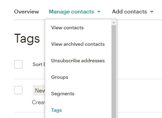 Une capture d'écran d'un outil de gestion de campagne de emailing