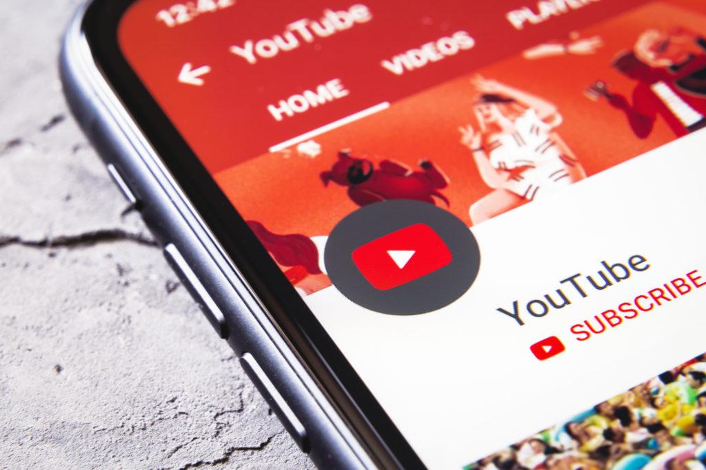Youtube sur une smartphone